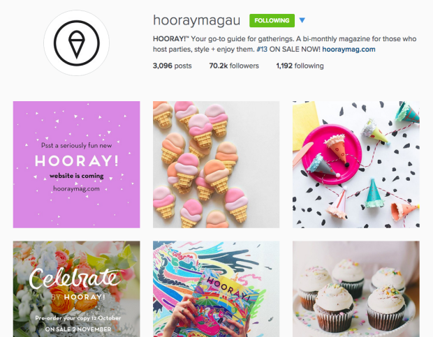 hooray magazine instagram celebration entertaining